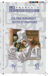 culture humaniste - Centre académique de ressources sur la ...