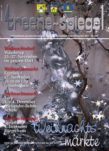 Weihnachtsdorf Wanderup 25.-27. November im ... - Treenespiegel