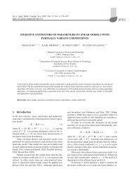 ITERATIVE ESTIMATORS OF PARAMETERS IN LINEAR MODELS ...