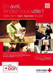 En avril, rendez-vous utile ! - Croix-Rouge luxembourgeoise