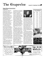 De e p Roots Conne ctions - The Grapevine