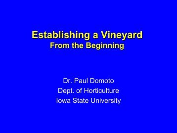 Establishing a Vineyard - Viticulture Iowa State University