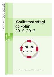 Kvalitetsstrategi og -plan 2010-2013 - Region Hovedstadens Psykiatri