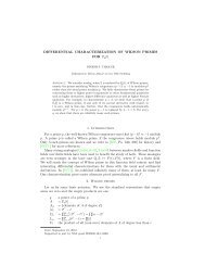 DIFFERENTIAL CHARACTERIZATION OF WILSON PRIMES FOR ...