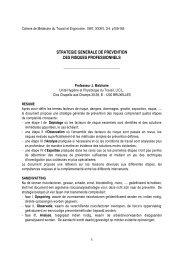 strategie generale de prevention des risques professionnels