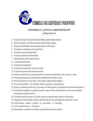 CONTROLUL ACTULUI ADMINISTRATIV
