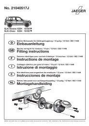 No. 21040517J Einbauanleitung Fitting instructions Instructions de ...
