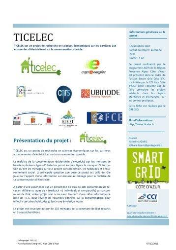 TICELEC V9 - Smart Grids