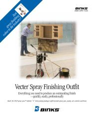 Vecter Spray Finishing Outfit - Elliott Equipment Corporation