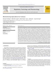 Biomonitoring Equivalents for triclosan - Université de Montréal