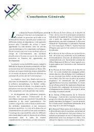 Conclusion Générale - Département de l'environnement