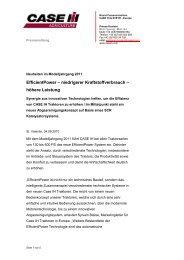 EfficientPower – niedrigerer Kraftstoffverbrauch – höhere ... - Case IH