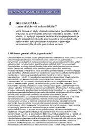 Geeniruokaa - ruoannälkään vai voitonnälkään? - Kepa.fi