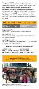 2012-2013 Preschool Academy Brochure - YMCA of Greater Charlotte - Page 4