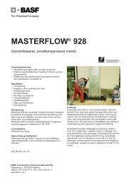 Masterflow 928.qxp - BASF Construction Chemicals