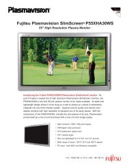 Fujitsu Plasmavision SlimScreen® P55XHA30WS - Home Theater ...