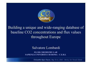 Building a unique and wide-ranging database of baseline CO2 ...