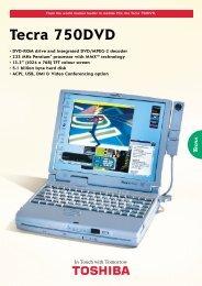 Tecra 750DVD - Toshiba
