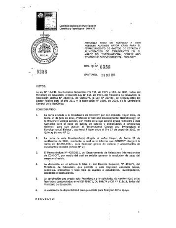Res.Exenta Nro. 6358 - Conicyt