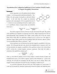 Determination of the Configuration Equilibrium of a Four Coordinate ...