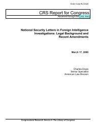 National Security Letters in Foreign Intelligence Investigations ...