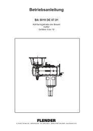 Betriebsanleitung BA 5019 DE 07.01 - Flender Ag