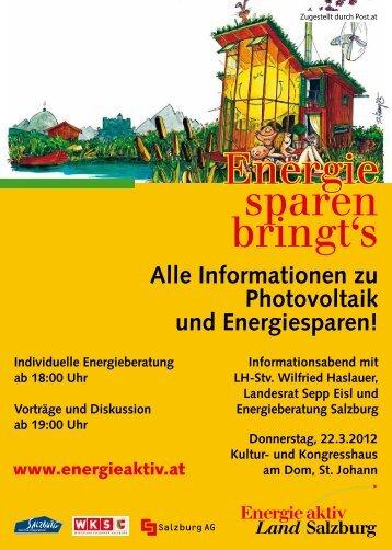 Energie sparen bringt's - Stadtgemeinde St. Johann im Pongau