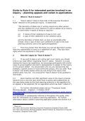 Guide to Rule 6 for interested parties involved in ... - Planning Portal - Page 2