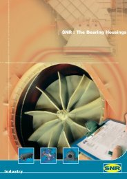 SNR : The Bearing Housings