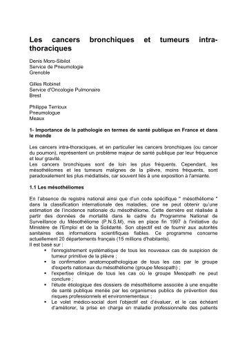 Chapitre II - Epidmiologie - Fédération Française de Pneumologie