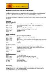 STUDIERESA OM FÖRNYBAR ENERGI 6-9 SEPTEMBER - Sero