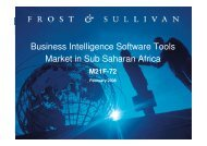 Business Intelligence Software Tools Market in Sub Saharan Africa