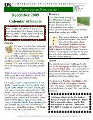 December 2009 Horticulture Newsletter - Bullitt County Cooperative ...