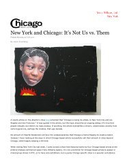 New York and Chicago: It's Not Us vs. Them - Tracy Williams, Ltd.