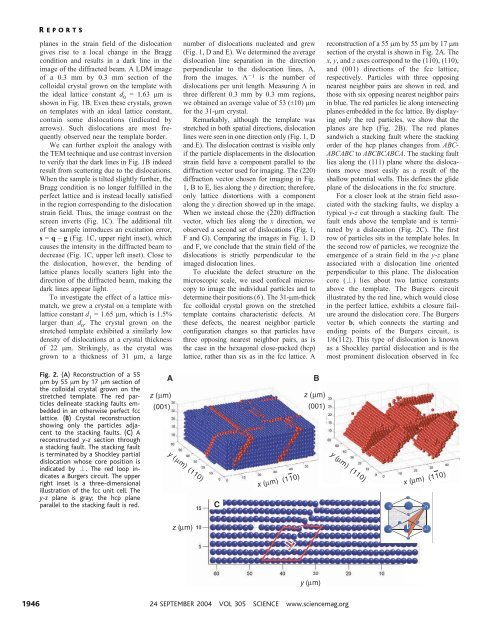 Visualization of Dislocation Dynamics in ... - Itai Cohen Group