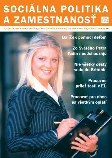 Jún 2004 - Ústredie práce, sociálnych vecí a rodiny