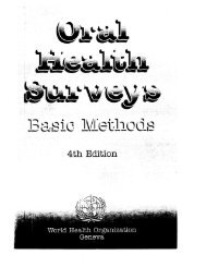 Oral health surveys : basic methods. —- 4th ed