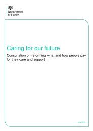 Caring for our future - Department of Health Consultation Hub