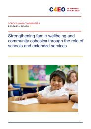 Strengthening family wellbeing and community cohesion through ...