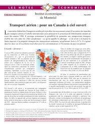 Transport aérien : pour un Canada à ciel ouvert - IEDM