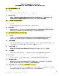 MEP supplemental codes
