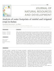 JOURNAL OF NATURAL RESOURCES AND DEVELOPMENT
