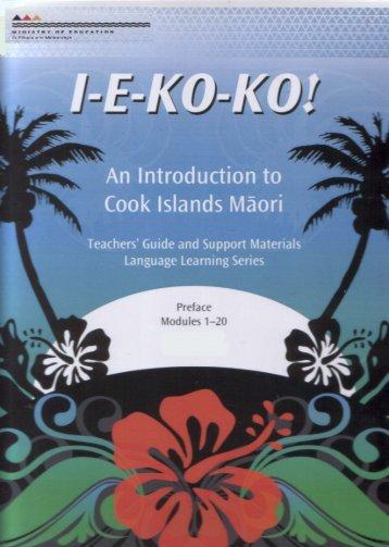 An Introduction to Cook Islands Māori - Pasifika