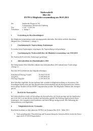 Niederschrift über die INTWA-Mitgliederversammlung am 30.03.2011