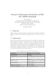 Project: Performance Evaluation of LTE 4Tx MIMO Downlink
