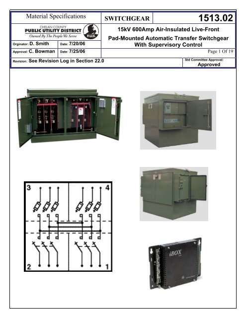 1513.02 Switch, Pad-Mounted, Live-Front 15kV, 600 Amp on