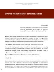Direitos fundamentais e concurso público - Revista do TCE