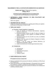 Nombre del Cargo: Profesional en Logística Código: POL 2 ...