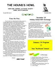 December 2010 - Aiken Gem, Mineral & Fossil Society