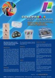 Product Range Water-Based Screen Printing Inks - Proell